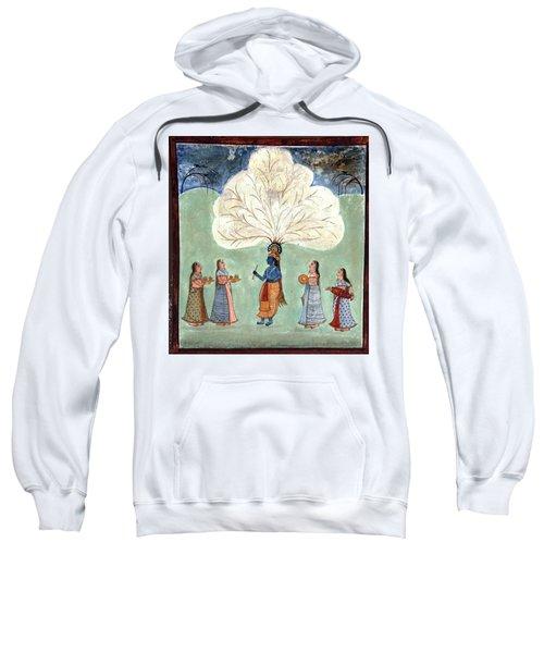 Painting Fresco Of Krishna In The Women's Zenana Sweatshirt
