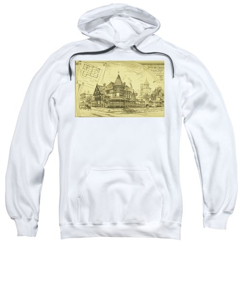 Pair Of Twin Cottages, Hastings Square, Spring Lake, Nj Sweatshirt