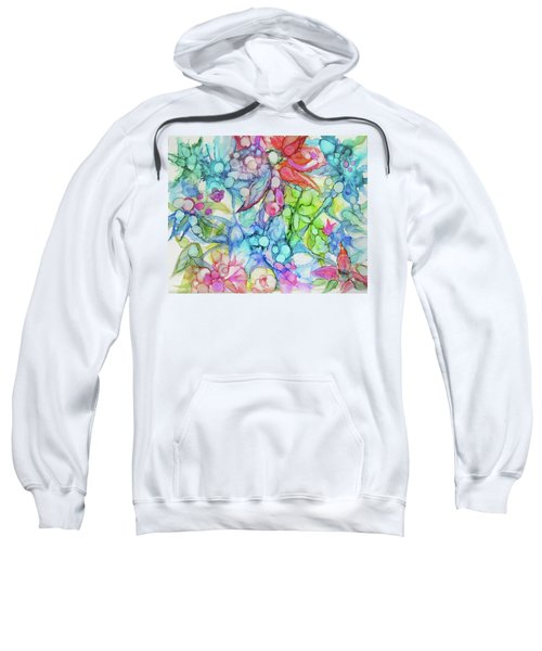 Pastel Flowers - Alcohol Ink Sweatshirt
