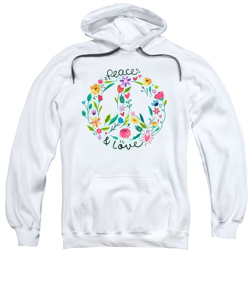 Peace And Love Floral Sign Sweatshirt