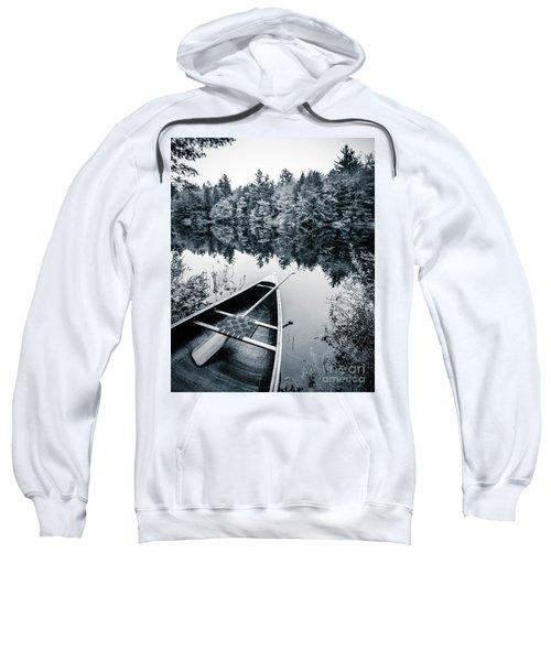 Peaceful Lakeside Canoe Sweatshirt