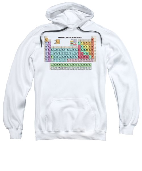 Periodic Table Of Music Genres Sweatshirt