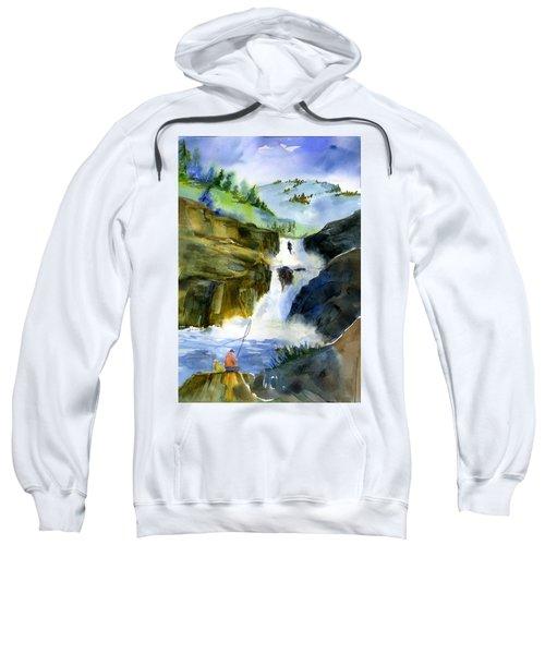 Petroglyph Falls Fishing Sweatshirt
