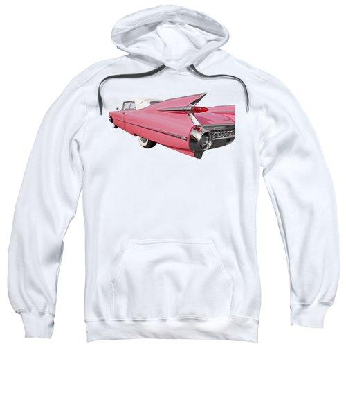 Pink Cadillac Tail Fins At Sunset Sweatshirt