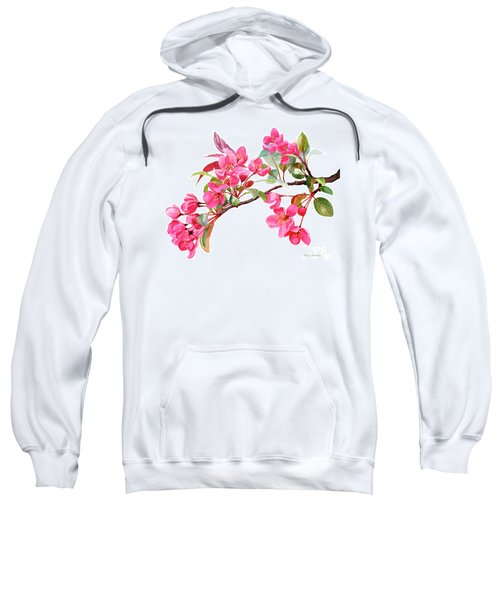 Pink Flowering Tree Blossoms Sweatshirt