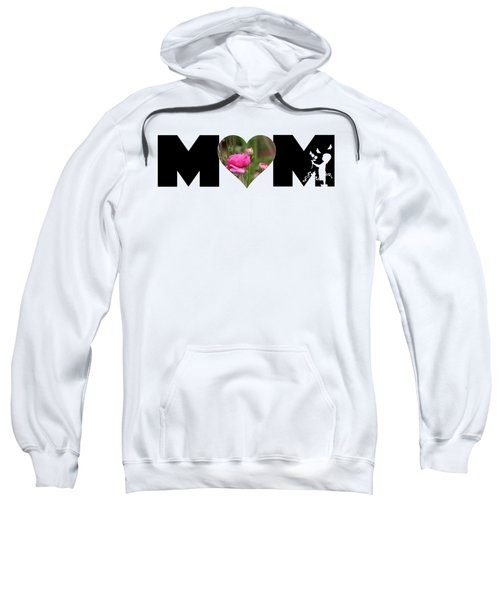 Pink Ranunculus In Heart Mom Big Letter-girls Sweatshirt
