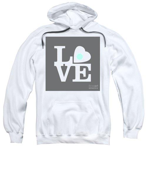 Pop Art Love In Gray Sweatshirt