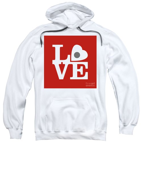 Pop Art Love In Red Sweatshirt