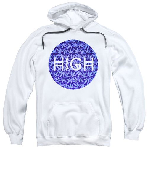 Purple Haze Cannabis Hemp 420 Marijuana  Pattern Sweatshirt