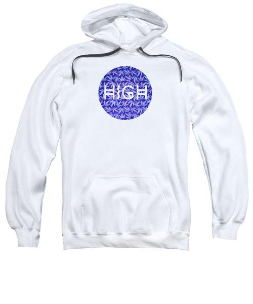 Purple Haze Cannabis Hemp 420 Marijuana  Pattern Sweatshirt