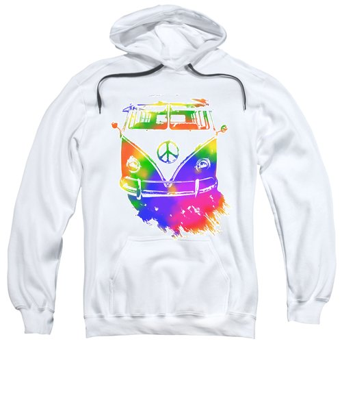 Rainbow Colored Peace Bus Sweatshirt