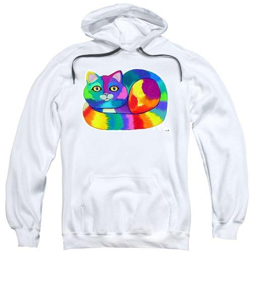 Rainbow Spectrum Cat Sweatshirt