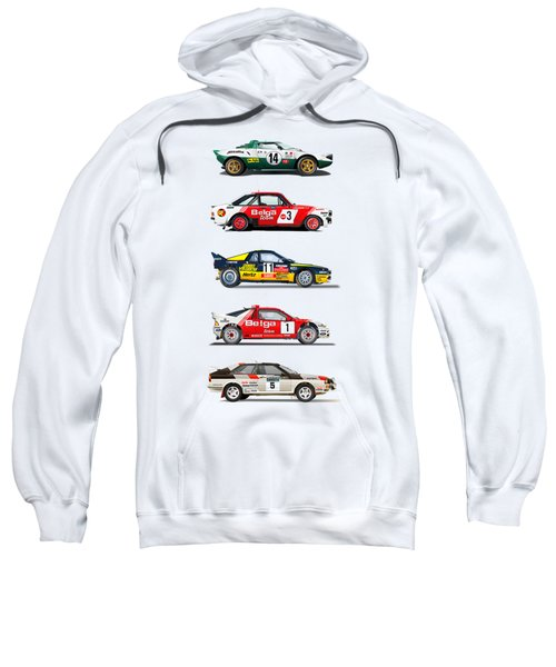 Rally Cars From The 70-80th Sweatshirt