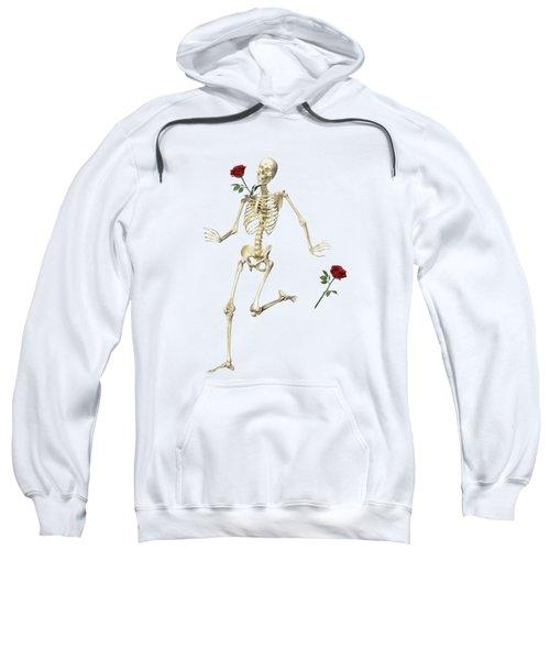 Rambling Rose Running Skeleton Sweatshirt
