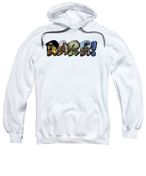 Rarr Big Letter Dinosaurs Sweatshirt