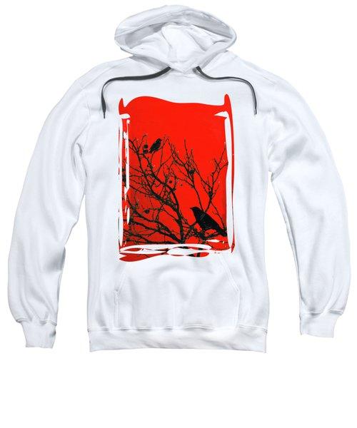 Raven - Black Over Red Sweatshirt