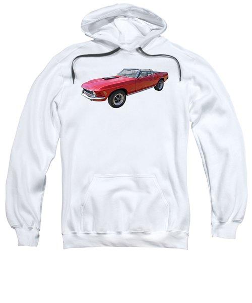 Red 1970 Mach 1 Mustang 351 Cleveland Sweatshirt