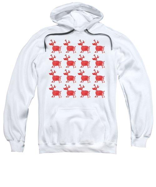 Red Reindeer Pattern Sweatshirt