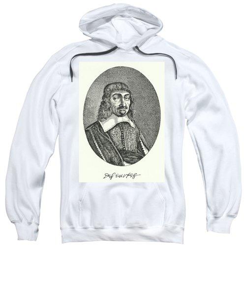 Rene Descartes, French Philosopher Engraving  Sweatshirt