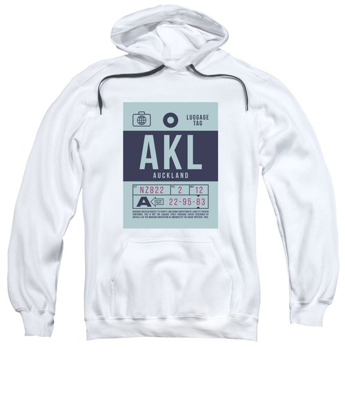 Retro Airline Luggage Tag 2.0 - Akl Auckland New Zealand Sweatshirt