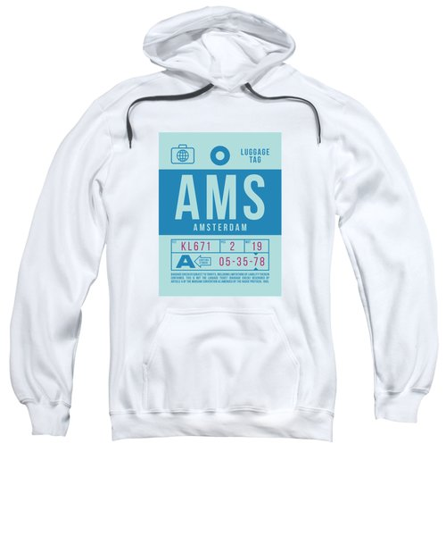 Retro Airline Luggage Tag 2.0 - Ams Amsterdam Netherlands Sweatshirt
