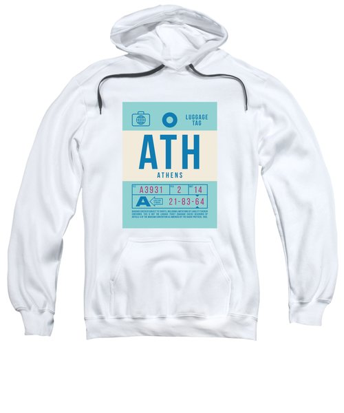Retro Airline Luggage Tag 2.0 - Ath Athens Greece Sweatshirt