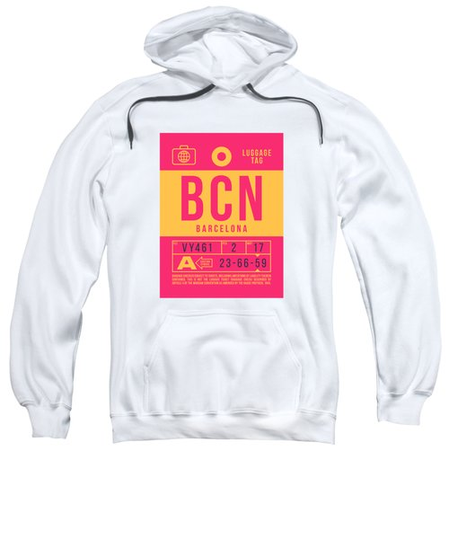 Retro Airline Luggage Tag 2.0 - Bcn Barcelona Spain Sweatshirt