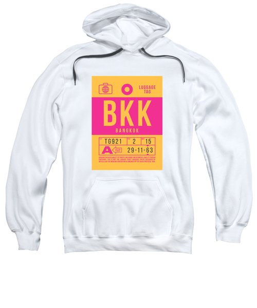 Retro Airline Luggage Tag 2.0 - Bkk Bangkok Thailand Sweatshirt