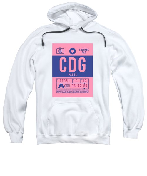 Retro Airline Luggage Tag 2.0 - Cdg Paris Charles De Gaulle France Sweatshirt