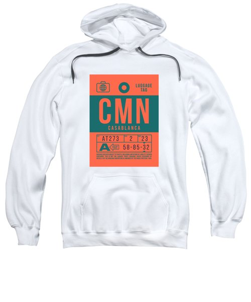 Retro Airline Luggage Tag 2.0 - Cmn Casablanca Morocco Sweatshirt