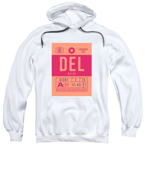 Retro Airline Luggage Tag 2.0 - Del Delhi India Sweatshirt