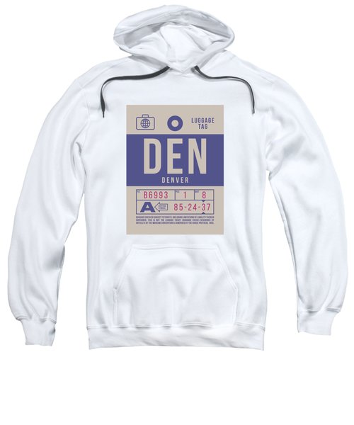 Retro Airline Luggage Tag 2.0 - Den Denver United States Sweatshirt