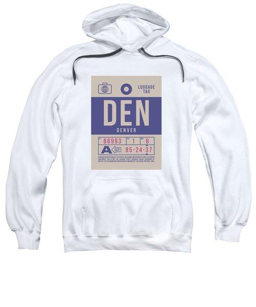 Retro Airline Luggage Tag 2.0 - Den Denver United States Sweatshirt