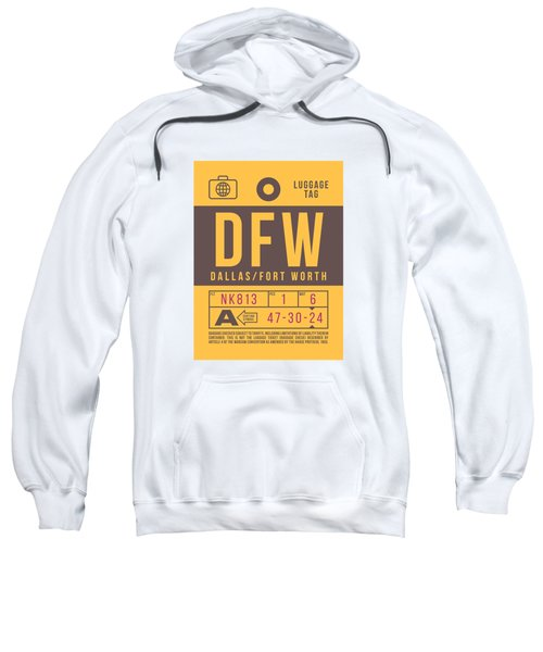 Retro Airline Luggage Tag 2.0 - Dfw Dallas Fort Worth United States Sweatshirt