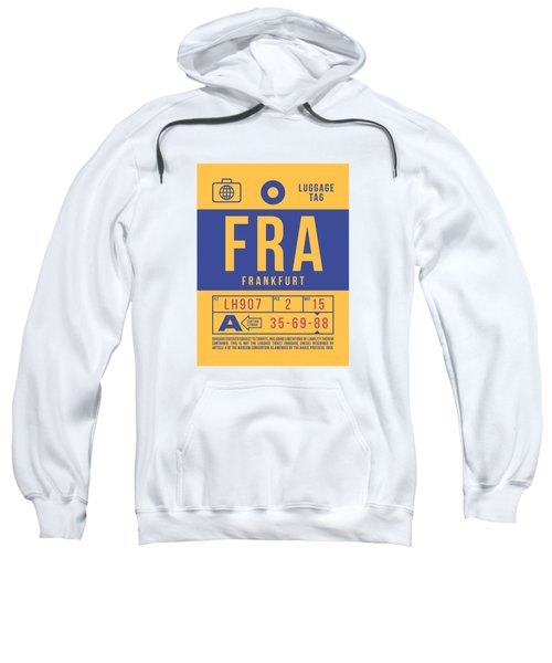Retro Airline Luggage Tag 2.0 - Fra Frankfurt Germany Sweatshirt