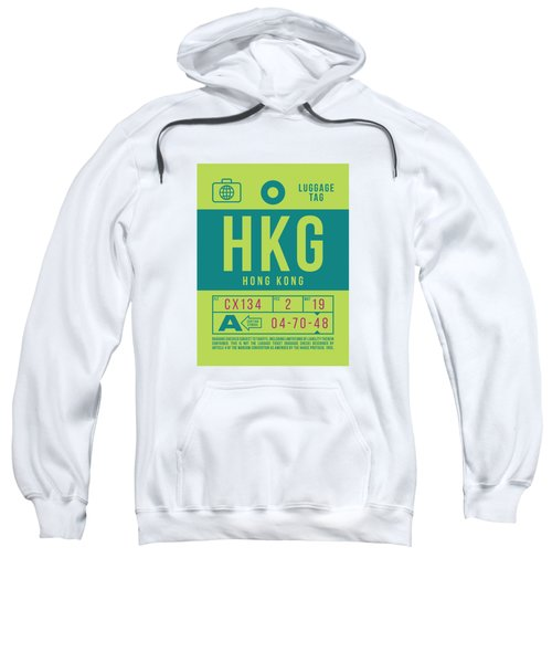 Retro Airline Luggage Tag 2.0 - Hkg Hong Kong Sweatshirt