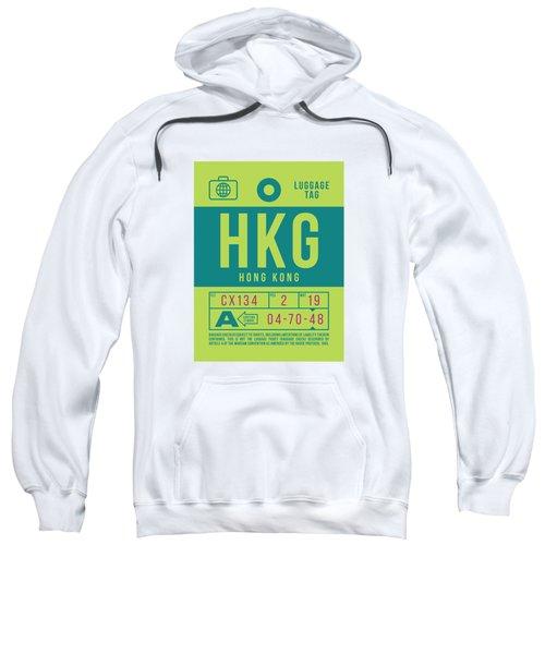 Retro Airline Luggage Tag 2.0 - Hkg Hong Kong Sweatshirt
