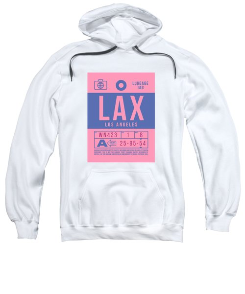 Retro Airline Luggage Tag 2.0 - Lax Los Angeles International Airport United States Sweatshirt