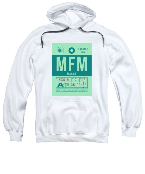 Retro Airline Luggage Tag 2.0 - Mfm Macau International Airport Sweatshirt