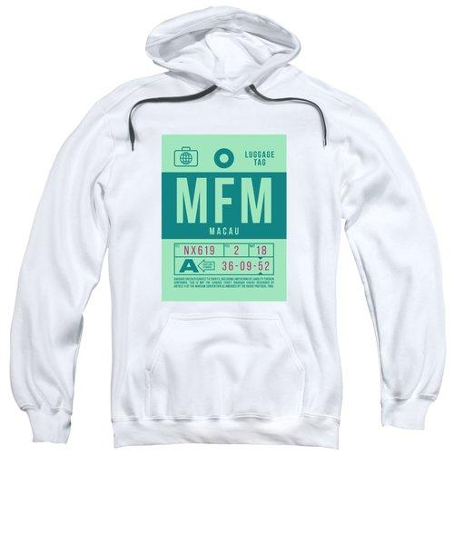 Retro Airline Luggage Tag 2.0 - Mfm Macau International Airport Sweatshirt