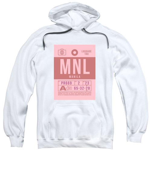 Retro Airline Luggage Tag 2.0 - Mnl Manila Aquino Airport Philippines Sweatshirt