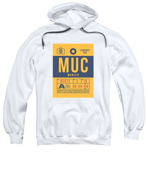 Retro Airline Luggage Tag 2.0 - Muc Munich International Airport Germany Sweatshirt