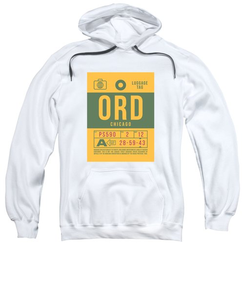 Retro Airline Luggage Tag 2.0 - Ord Chicago O'hare Airport United States Sweatshirt