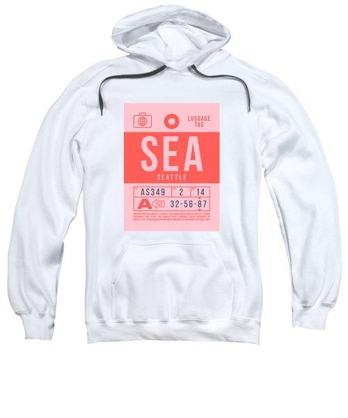 Retro Airline Luggage Tag 2.0 - Sea Seattle Tacoma Airport United States Sweatshirt