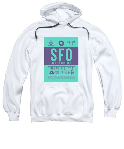 Retro Airline Luggage Tag 2.0 - Sfo San Francisco International Airport United States Sweatshirt