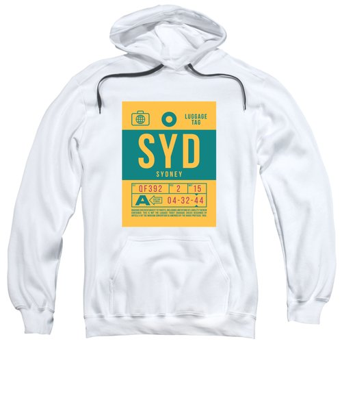 Retro Airline Luggage Tag 2.0 - Syd Sydney Kingsford Smith Airport Australia Sweatshirt