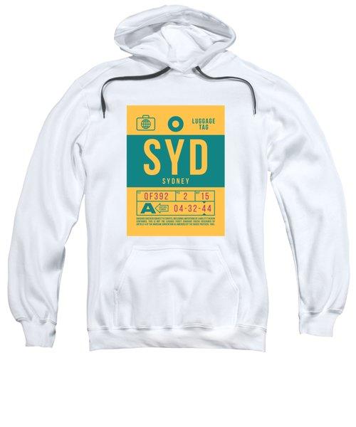 Retro Airline Luggage Tag 2.0 - Syd Sydney Kingsford Smith Airport Australia Sweatshirt