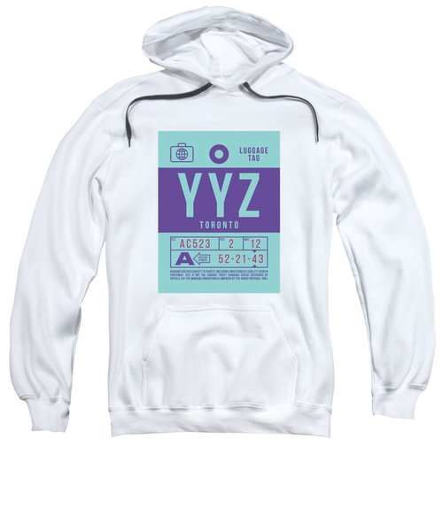 Retro Airline Luggage Tag 2.0 - Yyz Toronto International Airport Canada Sweatshirt