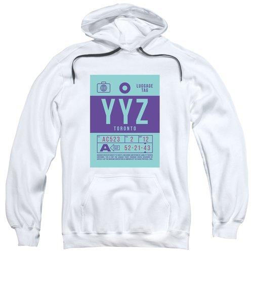 Retro Airline Luggage Tag 2.0 - Yyz Toronto International Airport Canada Sweatshirt
