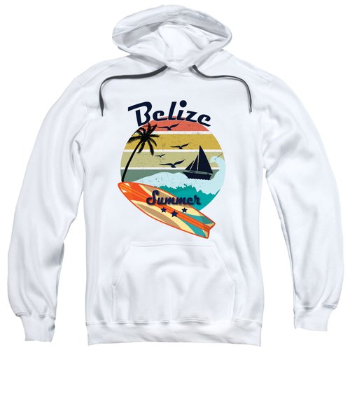 Retro Vintage Belize Gift Summer Vacation  Sweatshirt